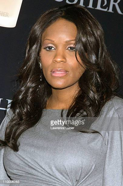 Wardrobe stylist Tameka Foster arrives at the launch party for Usher Raymond's new fragrances September 25 at Cipiriani's 23rd St in New York City