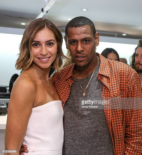 Wardrobe Stylists Jasmine Caccamo and Kareem James attend EFM and Donrad Duncan at C'H'C'M' on May 14 2015 in New York City