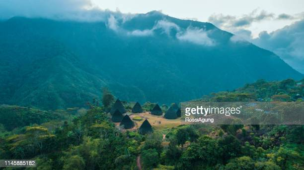 ware rebo village, flores, indonesia - east nusa tenggara stock pictures, royalty-free photos & images