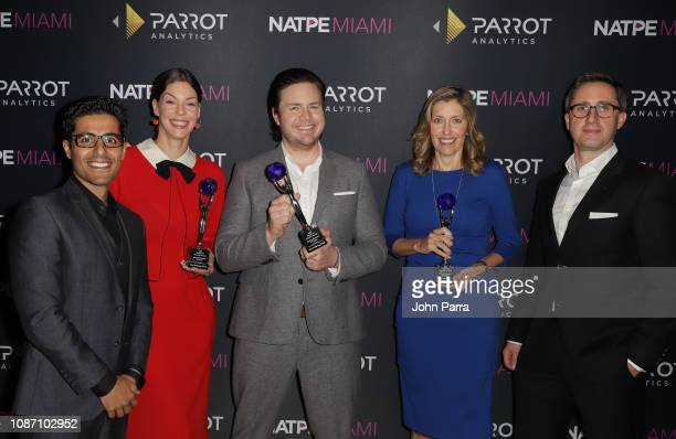 Wared Seger Pollyanna McIntosh Josh McDermitt Denise Huth and Courtney Williams attend the 2018 Global TV Demand Award Most InDemand TV Series for...
