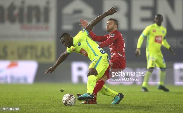 20171203 Waregem Belgium / Zulte Waregem v Kaa Gent / 'nAnderson ESITI Alessandro CORDARO'nFootball Jupiler Pro League 2017 2018 Matchday 17 /...