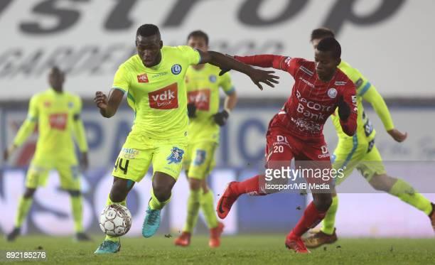 20171203 Waregem Belgium / Zulte Waregem v Kaa Gent / 'nAnderson ESITI Idrissa DOUMBIA'nFootball Jupiler Pro League 2017 2018 Matchday 17 / 'nPicture...