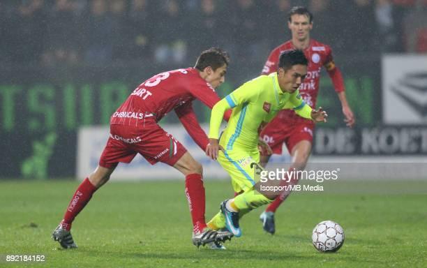 20171203 Waregem Belgium / Zulte Waregem v Kaa Gent / 'nJulien DE SART Yuya KUBO'nFootball Jupiler Pro League 2017 2018 Matchday 17 / 'nPicture by...