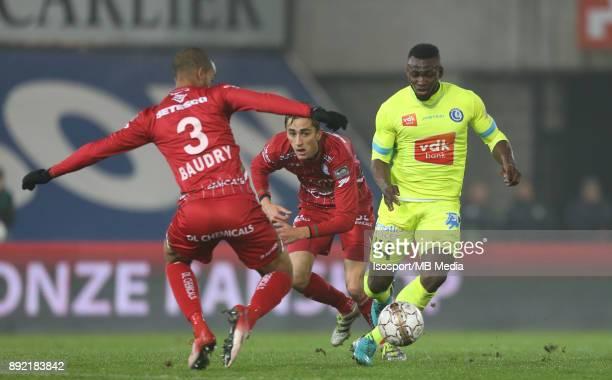 20171203 Waregem Belgium / Zulte Waregem v Kaa Gent / 'nMarvin BAUDRY Julien DE SART Anderson ESITI'nFootball Jupiler Pro League 2017 2018 Matchday...