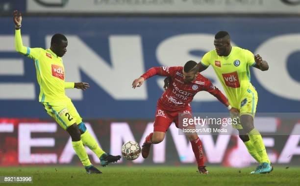 20171203 Waregem Belgium / Zulte Waregem v Kaa Gent / 'nNana ASARE Alessandro CORDARO Anderson ESITI'nFootball Jupiler Pro League 2017 2018 Matchday...