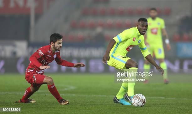 20171203 Waregem Belgium / Zulte Waregem v Kaa Gent / 'nSandy WALSH Anderson ESITI'nFootball Jupiler Pro League 2017 2018 Matchday 17 / 'nPicture by...
