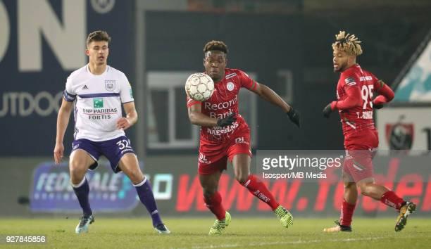 20180303 Waregem Belgium / Zulte Waregem v Rsc Anderlecht / 'nAaron LEYA ISEKA'nFootball Jupiler Pro League 2017 2018 Matchday 29 / 'nPicture by...