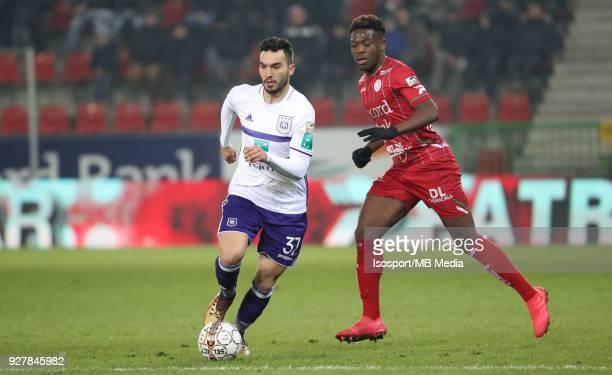 20180303 Waregem Belgium / Zulte Waregem v Rsc Anderlecht / 'nIvan OBRADOVIC Aaron LEYA ISEKA'nFootball Jupiler Pro League 2017 2018 Matchday 29 /...