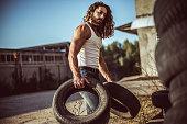 Warehouse automobile tires