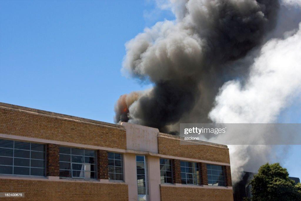 Warehouse blaze : Stock Photo