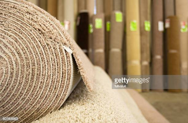 warehouse carpet store - rolled up stock pictures, royalty-free photos & images