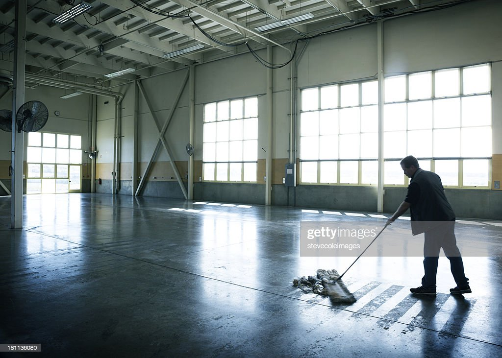 Warehouse Cleaning : Stock Photo