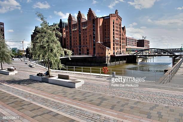 Warehouse district at Hafen city of Hamburg