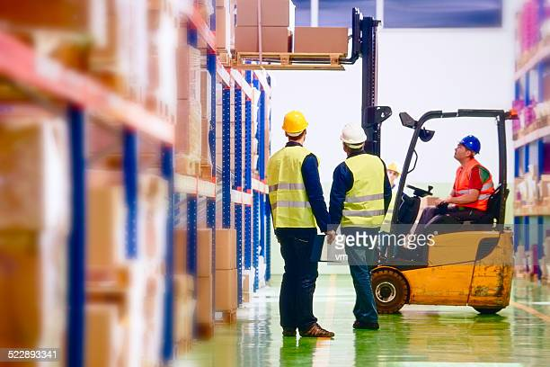 Warehouse Employees in Distribution Warehouse