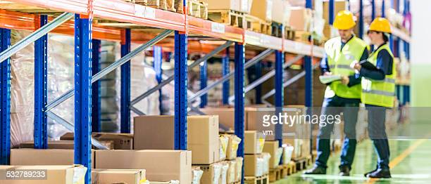Warehouse Employees Working