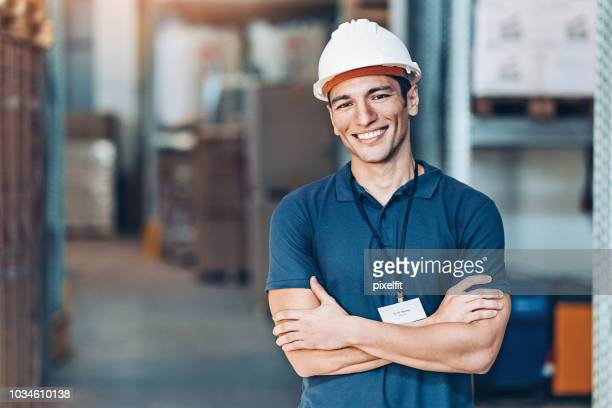 warehouse foreman - work helmet stock pictures, royalty-free photos & images