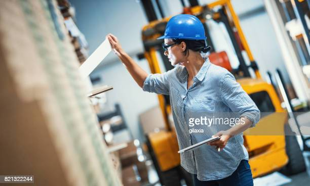 warehouse inspection. - labeling stock photos and pictures
