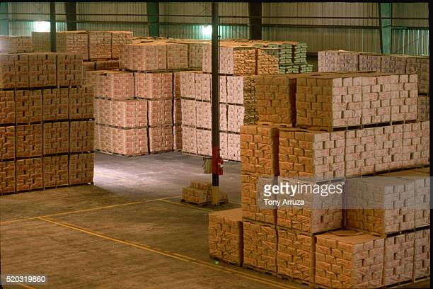 Warehouse of Packed Sugar