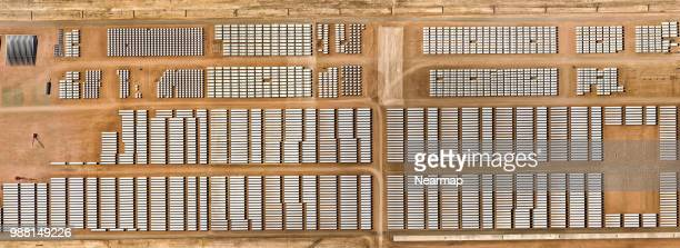 warehouse of wind farms in pueblo, colorado, usa - spare part stock pictures, royalty-free photos & images