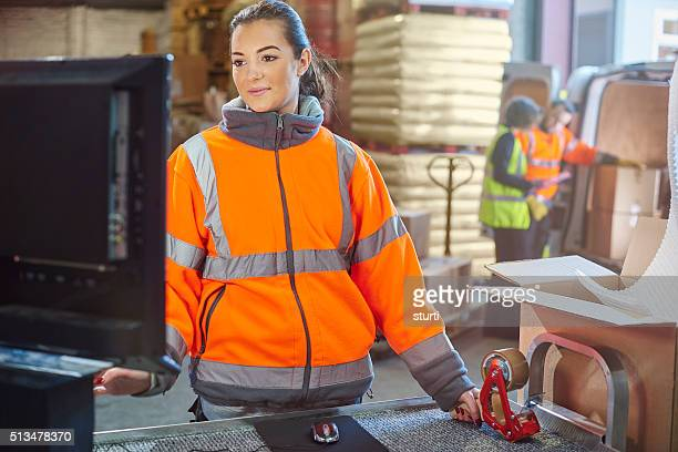 warehouse packing area - sturti stock pictures, royalty-free photos & images