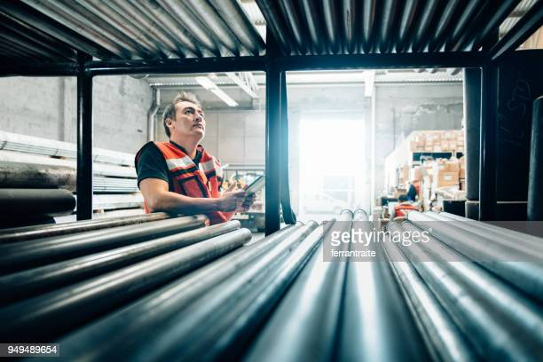 warehouse - metal industry stock pictures, royalty-free photos & images
