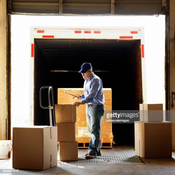 warehouse shipment - loading dock stock pictures, royalty-free photos & images
