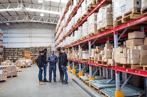 Warehouse team meeting 1088912398