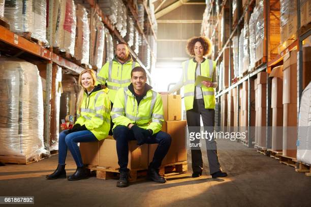 warehouse team - reflective clothing stock pictures, royalty-free photos & images
