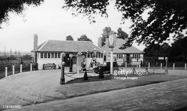 Waresley petrol station at Hartlebury 1929 Creator Unknown