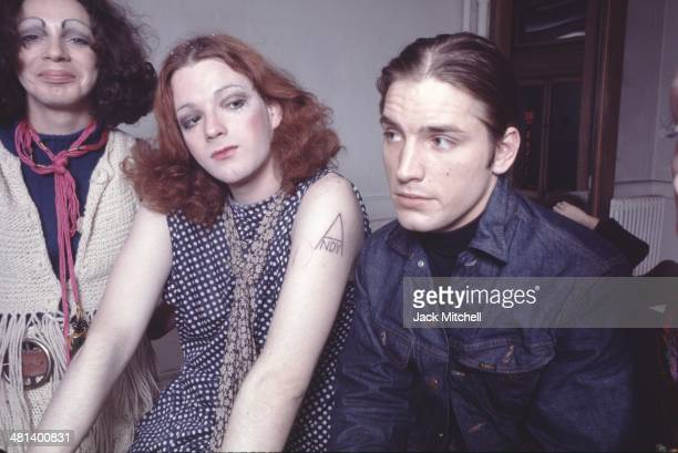 Warhol Superstars Holly Woodlawn Jackie Curtis and Joe Dallesandro at the Factory in 1971