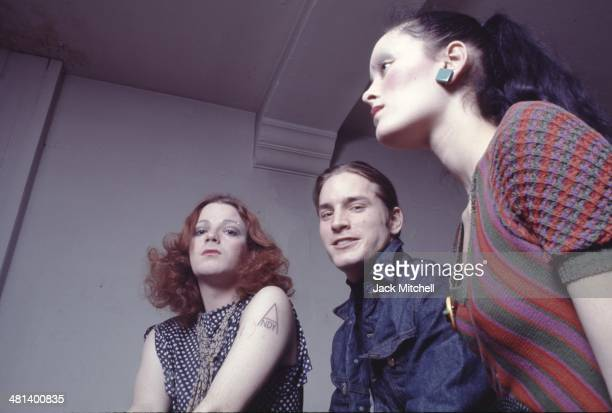 Warhol Superstars Jackie Curtis Joe Dallesandro and Jane Forth at the Factory in 1971