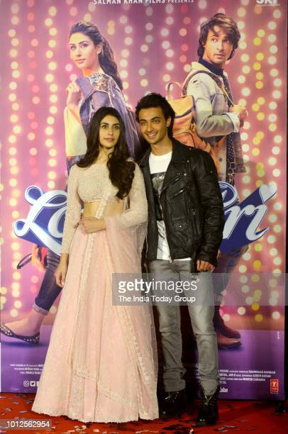 Warina Hussain and Aayush Sharma at the trailer launch of their movie Loveratri in Mumbai