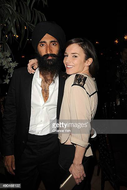 Waris Ahluwalia and Kick Kennedy attend 3rd Annual Turtle Ball at The Bowery Hotel on September 28 2015 in New York City