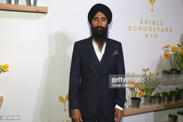 Waris Ahluwalia attends Edible Schoolyard NYC 2018 Spring Benefit at 180 Maiden Lane on April 16 2018 in New York City
