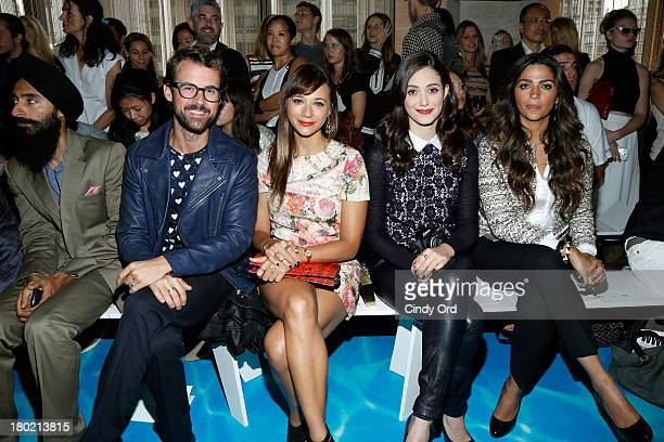 Waris Ahluwalia Brad Goerski Rashida Jones Emmy Rossum and Camila Alves attend the Tory Burch fashion show during MercedesBenz Fashion Week Spring at...