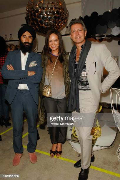 Waris Ahluwalia Miguelina Gambaccini and Carlos Souza attend PROPERTY 10 Years of Design Preview at Property on May 13 2010 in New York City