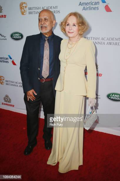 Waris Hussein and Sarah Miles attend the 2018 British Academy Britannia Awards presented by Jaguar Land Rover and American Airlines at The Beverly...