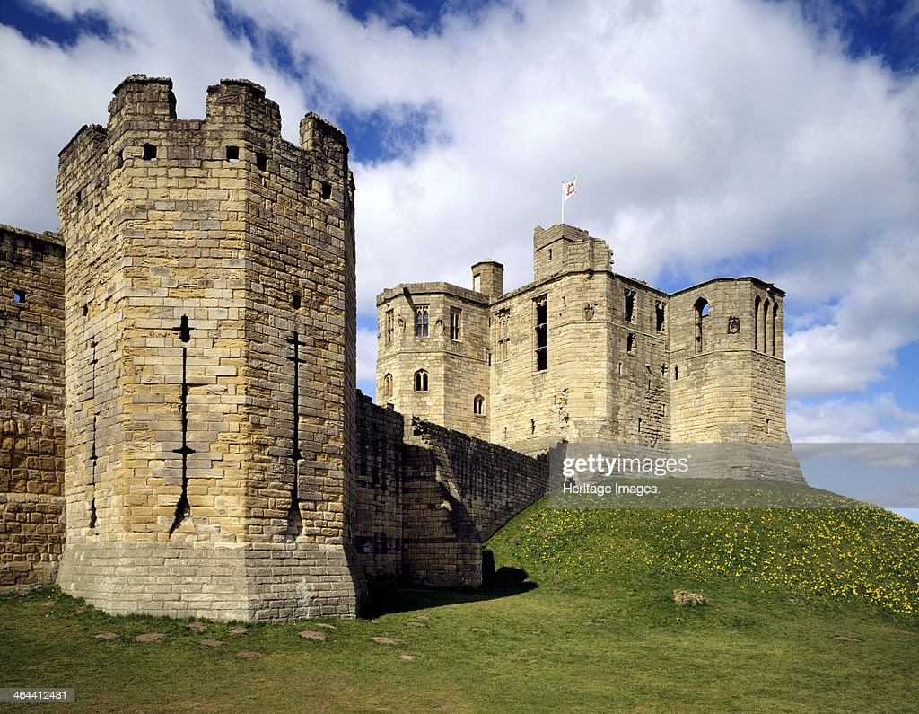 Gray Mare's Tail tower and the keep, Warkworth Castle, Northumberland, 1994. Artist: J Bailey : News Photo