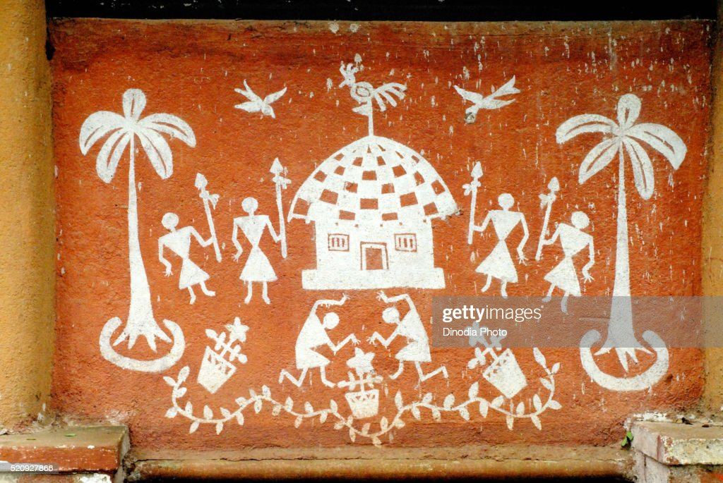 Warli painting at sanjay gandhi national park borivali bombay mumbai warli painting at sanjay gandhi national park borivali bombay mumbai maharashtra india thecheapjerseys Image collections