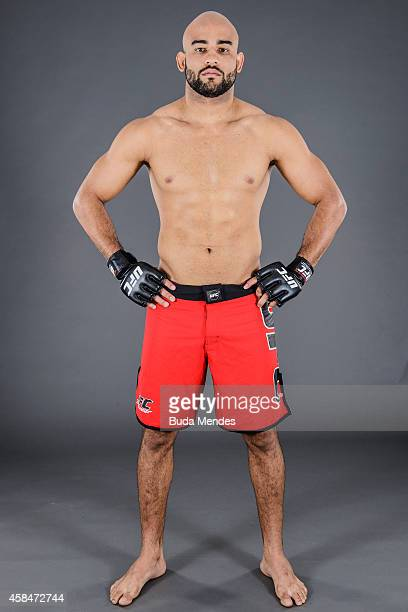 Warlley Alves of Brazil poses for a portrait during a UFC photo session on November 5 2014 in Uberlandia Minas Gerais Brazil