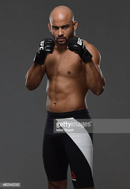 Warlley Alves poses for a portrait during a UFC photo session at the Sheraton Rio Hotel on July 30 2015 in Rio de Janeiro Brazil