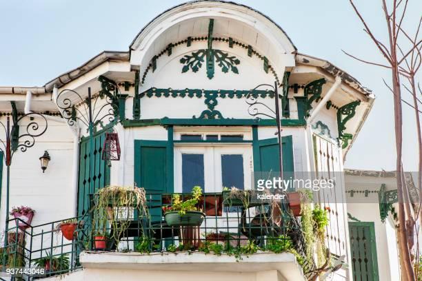 a warm and friendly balcony in mediterranean culture - contemporary istanbul foto e immagini stock