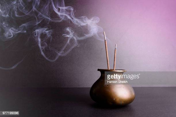 warm and sensual - incense stock photos and pictures