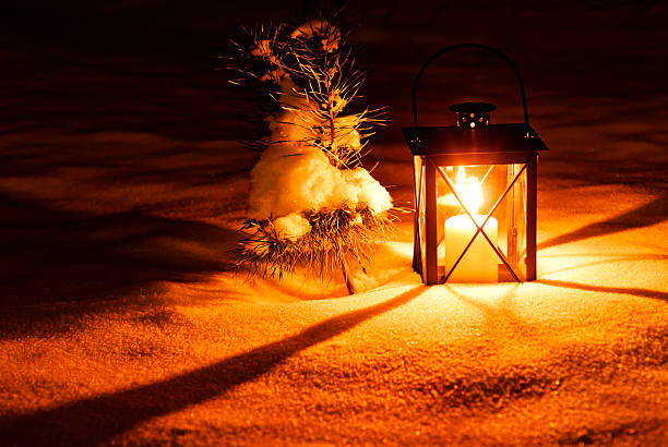 Warm Candle Light In The Lantern Wall Art