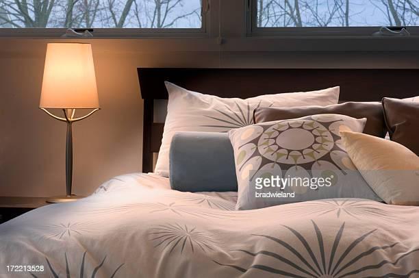 Warm, Contemporary Bedroom