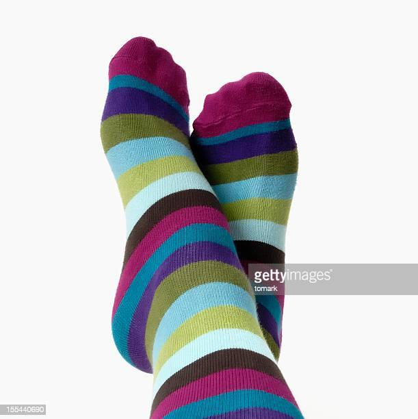 warm feet - sock stock pictures, royalty-free photos & images