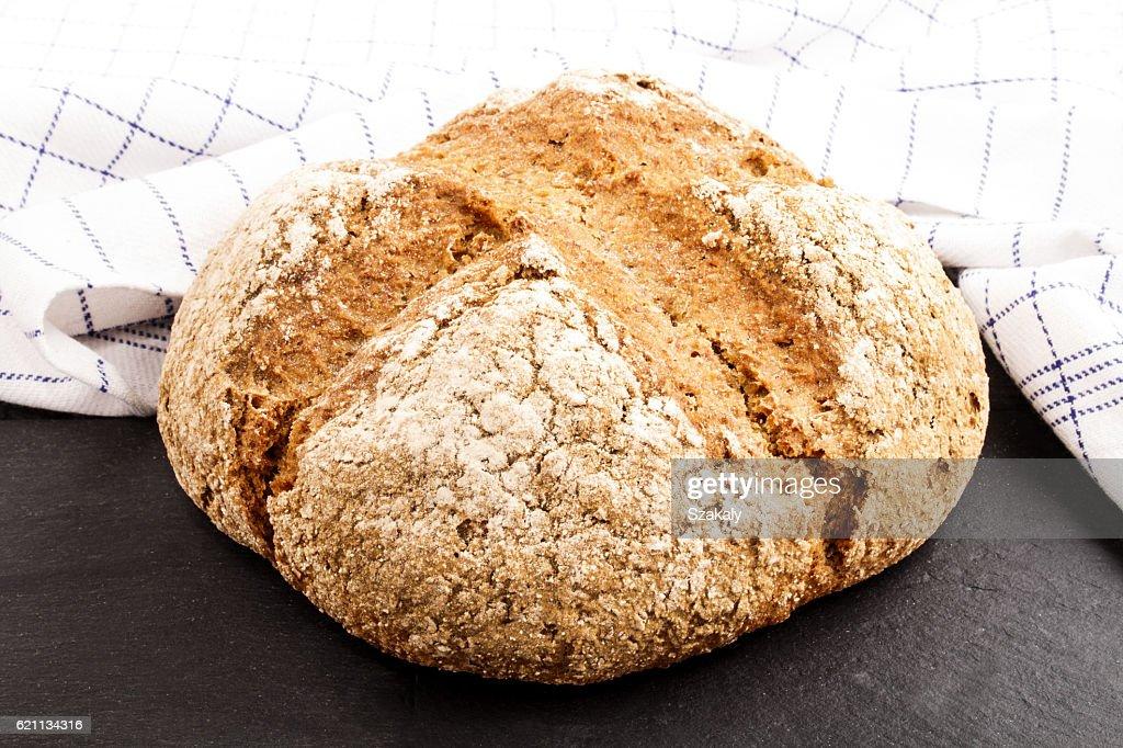 warm, freshly baked irish soda bread : Stock Photo