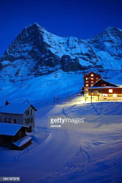 Warmes Licht unter Jungfraujoch