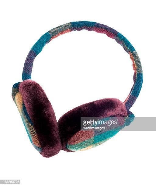 Warm Plaid Ear Muffs: Funky Style