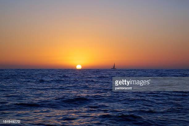 Warm Summer Sail at Sea Sunset